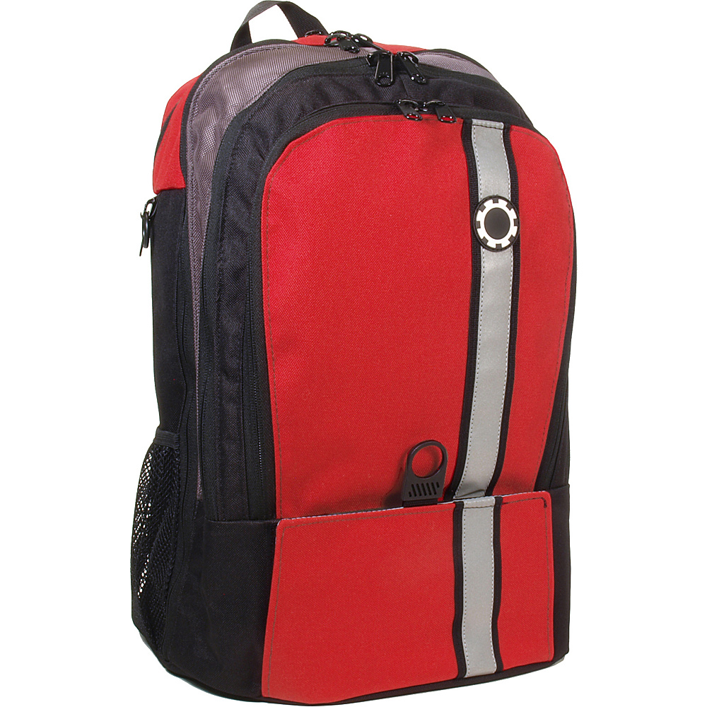 DadGear Backpack Retro Stripe Diaper Bag Chili Pepper Red - DadGear Everyday Backpacks