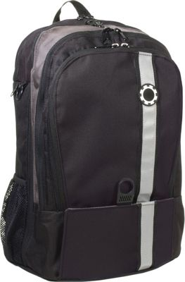 DadGear Backpack Retro Stripe Diaper Bag - Black
