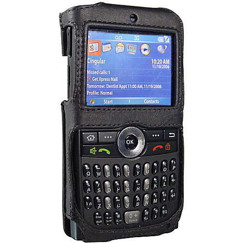 Fortte Samsung BlackJack SGH-i607 Open Face Leather PDA