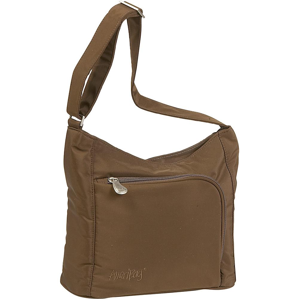AmeriBag Willow Microfiber Handbag - Shoulder Bag - Handbags, Fabric Handbags