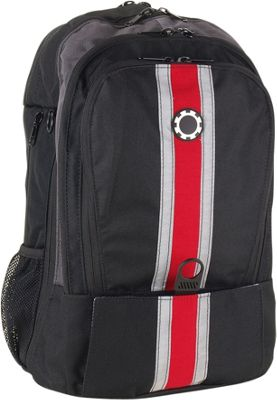 DadGear Backpack Center Stripe Diaper Bag - Chili