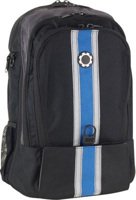 DadGear Backpack Center Stripe Diaper Bag - Blue