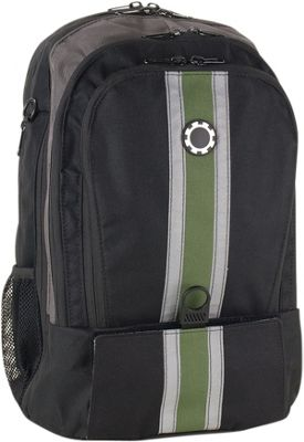 DadGear Backpack Center Stripe Diaper Bag Center Stripe Green - DadGear Everyday Backpacks