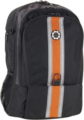 DadGear Backpack Center Stripe Diaper Bag Center Stripe Orange - DadGear Everyday Backpacks