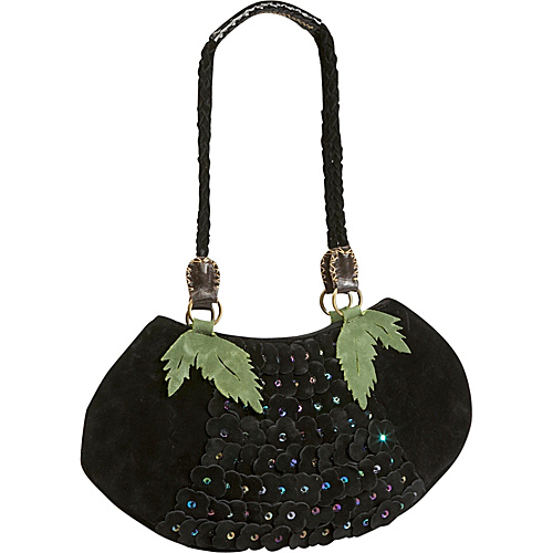 Global Elements Suede Sequin Bag - Black
