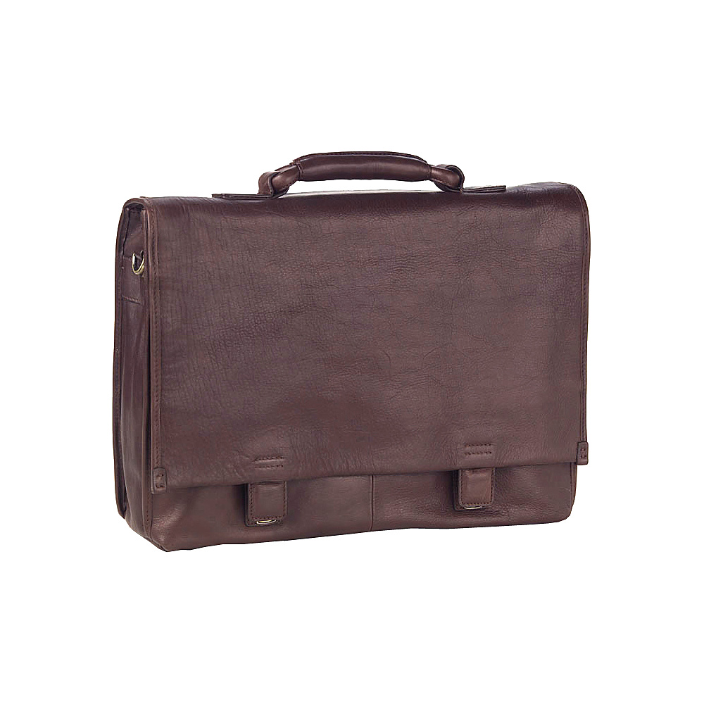 Clava Tuscan Flap Briefcase - Tuscan Cafe - Work Bags & Briefcases, Non-Wheeled Business Cases