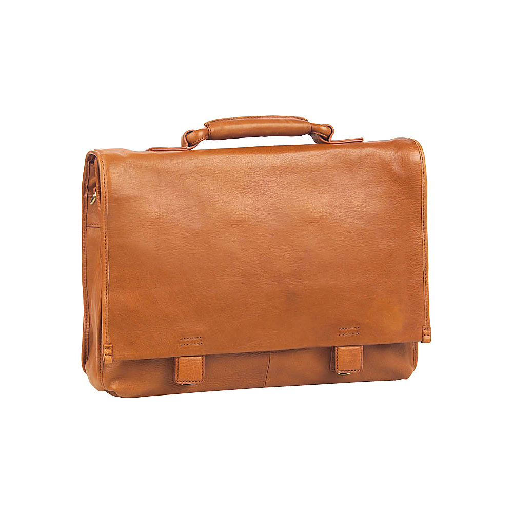 Clava Tuscan Flap Briefcase - Tuscan Tan - Work Bags & Briefcases, Non-Wheeled Business Cases