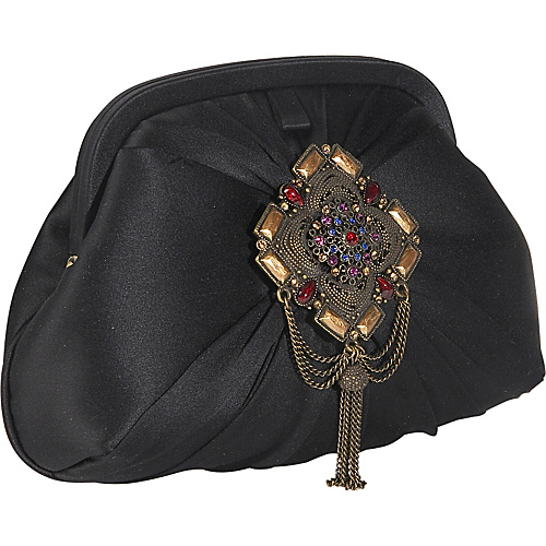 Inge Christopher Madrid Silk Clutch With Jewelled - Clutch