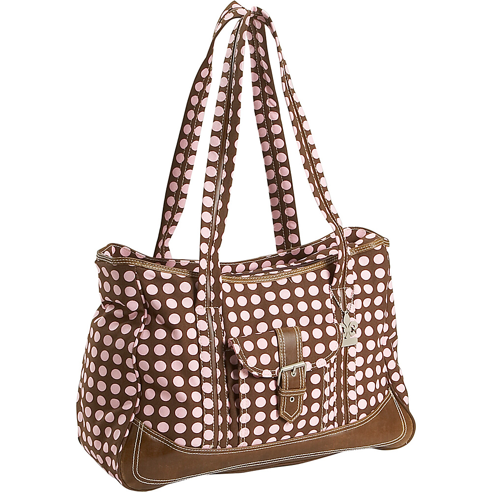 Kalencom Weekender Diaper Bag - Heavenly Dots Choc/Pink - Handbags, Diaper Bags & Accessories