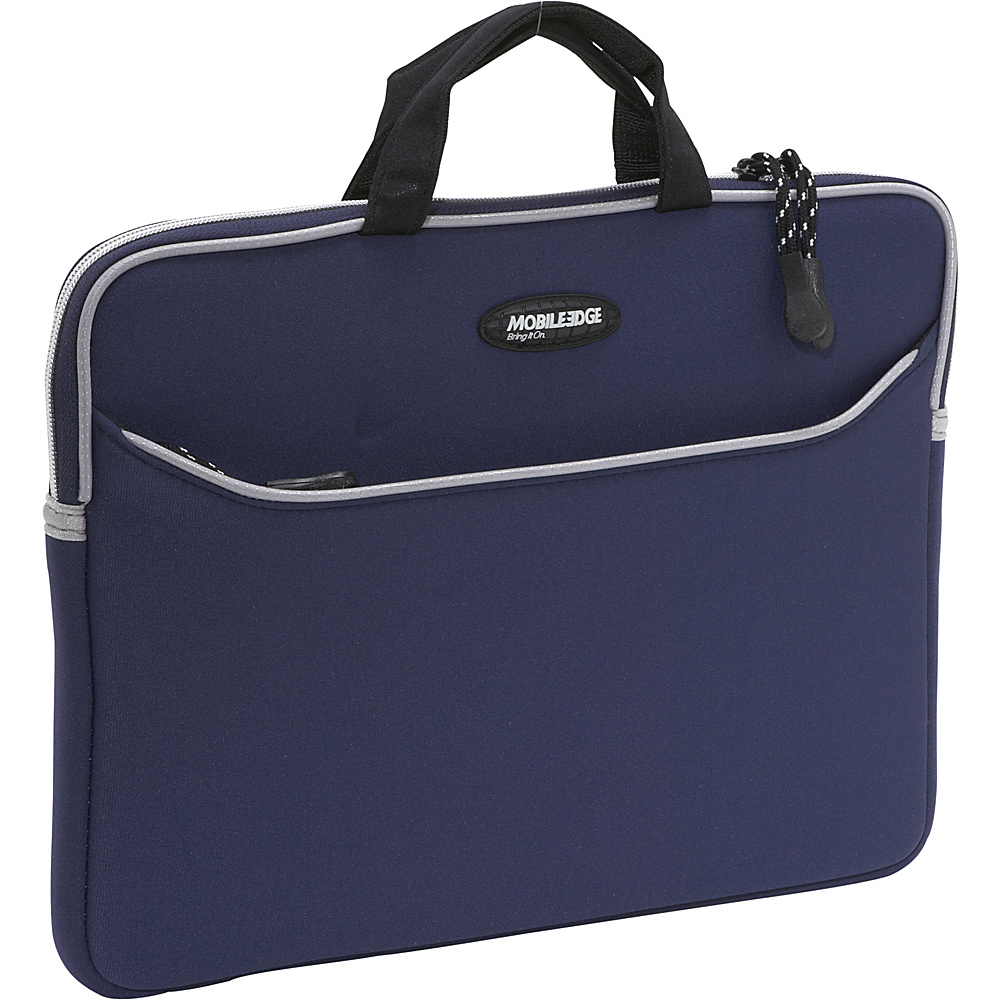Mobile Edge Neoprene Laptop Sleeve 13 MacBook Pro Navy Blue w Platinum Trim Mobile Edge Electronic Cases