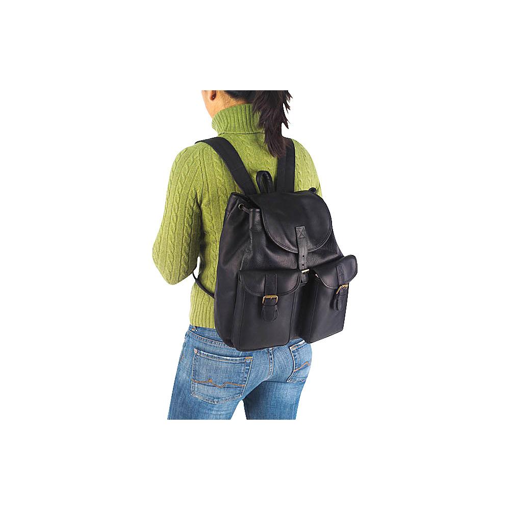 Clava Drawstring Backpack Vachetta Black - Clava Everyday Backpacks