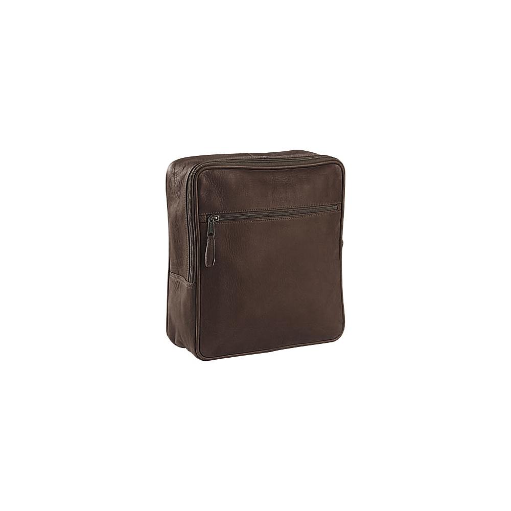 Clava Square Backpack - Vachetta Cafe - Handbags, Leather Handbags
