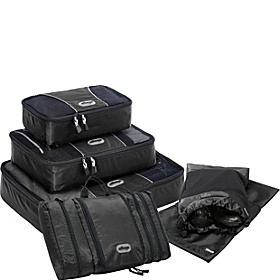 Value Set: Packing Cubes + Pack-It-Flat + Shoe Sleeves Black