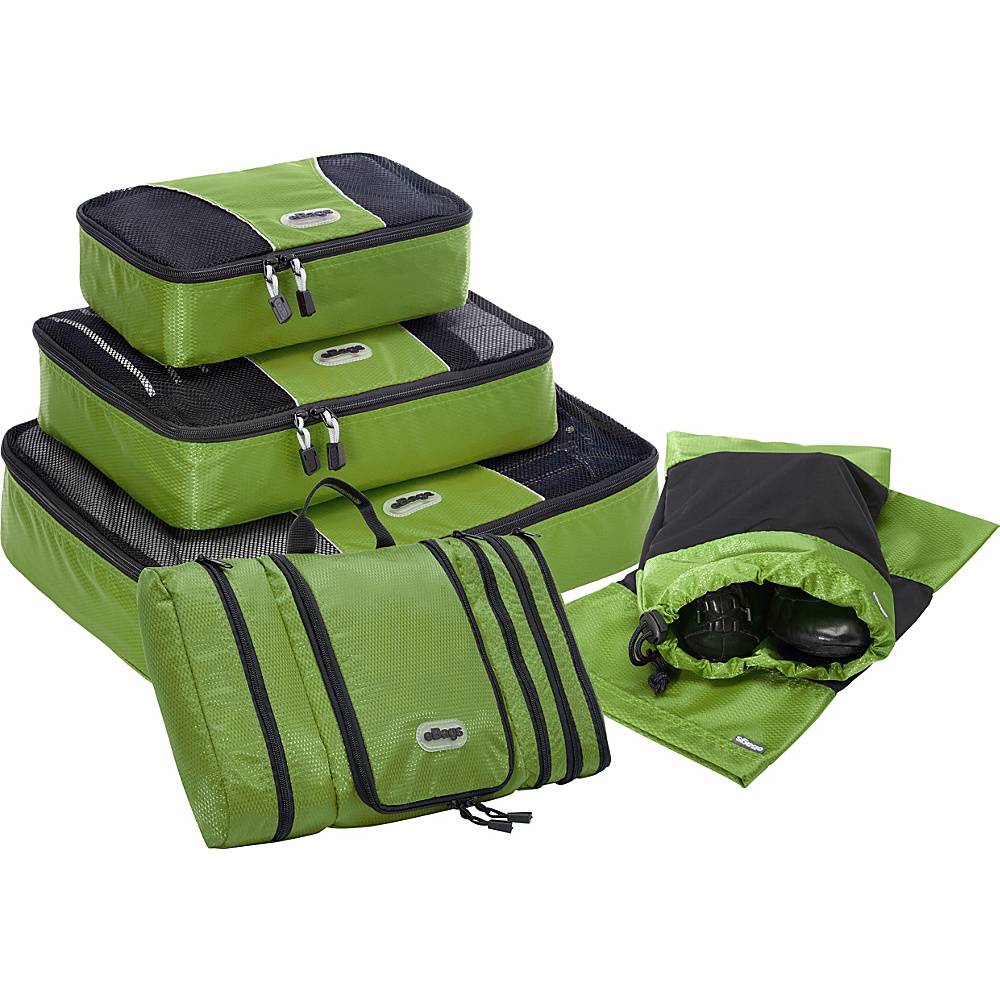 eBags Value Set: Packing Cubes + Pack-It-Flat + Shoe Sleeves Grasshopper - eBags Travel Organizers - Travel Accessories, Travel Organizers