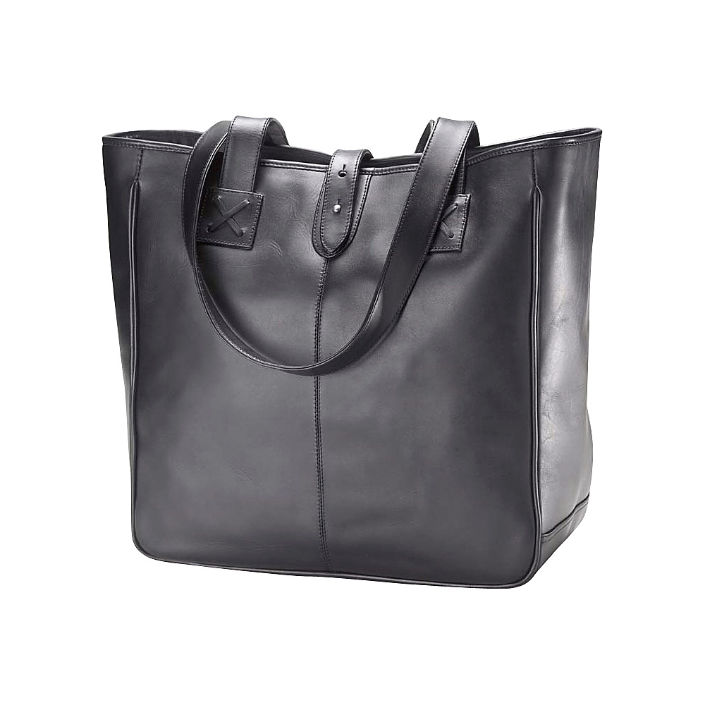 Clava Oversized Bridle Tote - Bridle Black