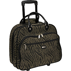Rolling Tote Bagg 17'' Animal Prints Zebra