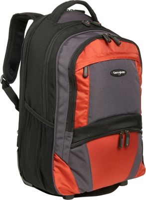 Orange Rolling Backpack - Crazy Backpacks