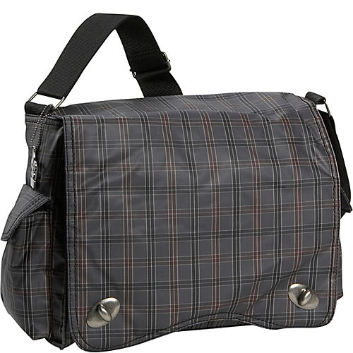 kalencom messenger plaid diaper bag. Black Bedroom Furniture Sets. Home Design Ideas