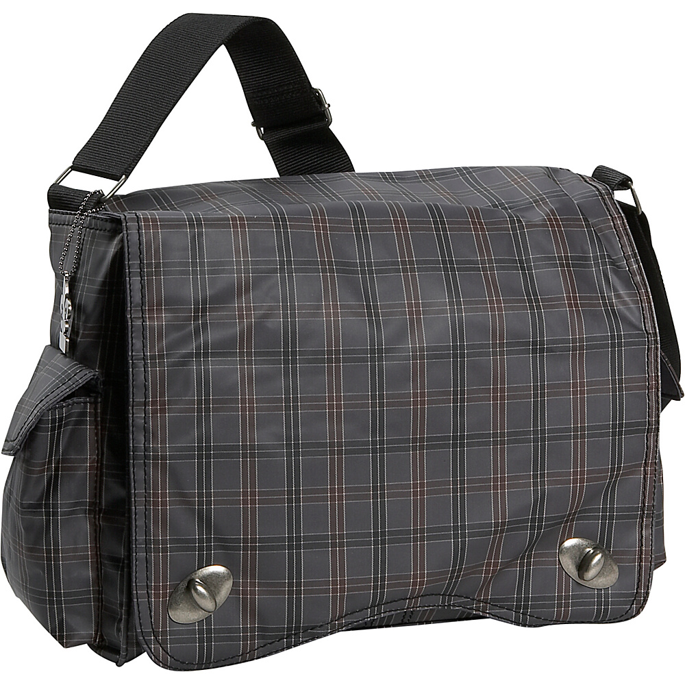 Kalencom Messenger Plaid Diaper Bag - Gray Plaid - Handbags, Diaper Bags & Accessories