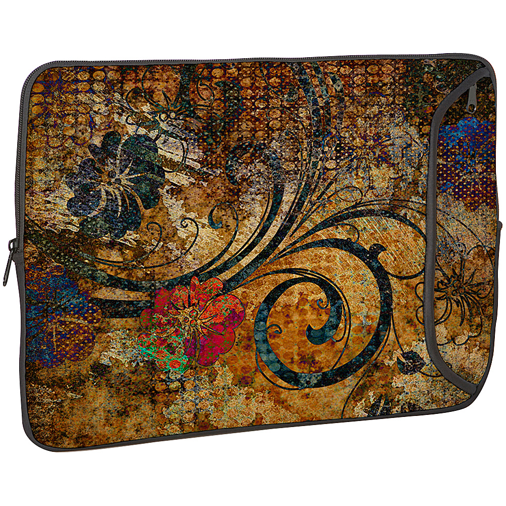 Designer Sleeves 14 Designer Laptop Sleeve Vintage Fleur - Designer Sleeves Electronic Cases - Technology, Electronic Cases