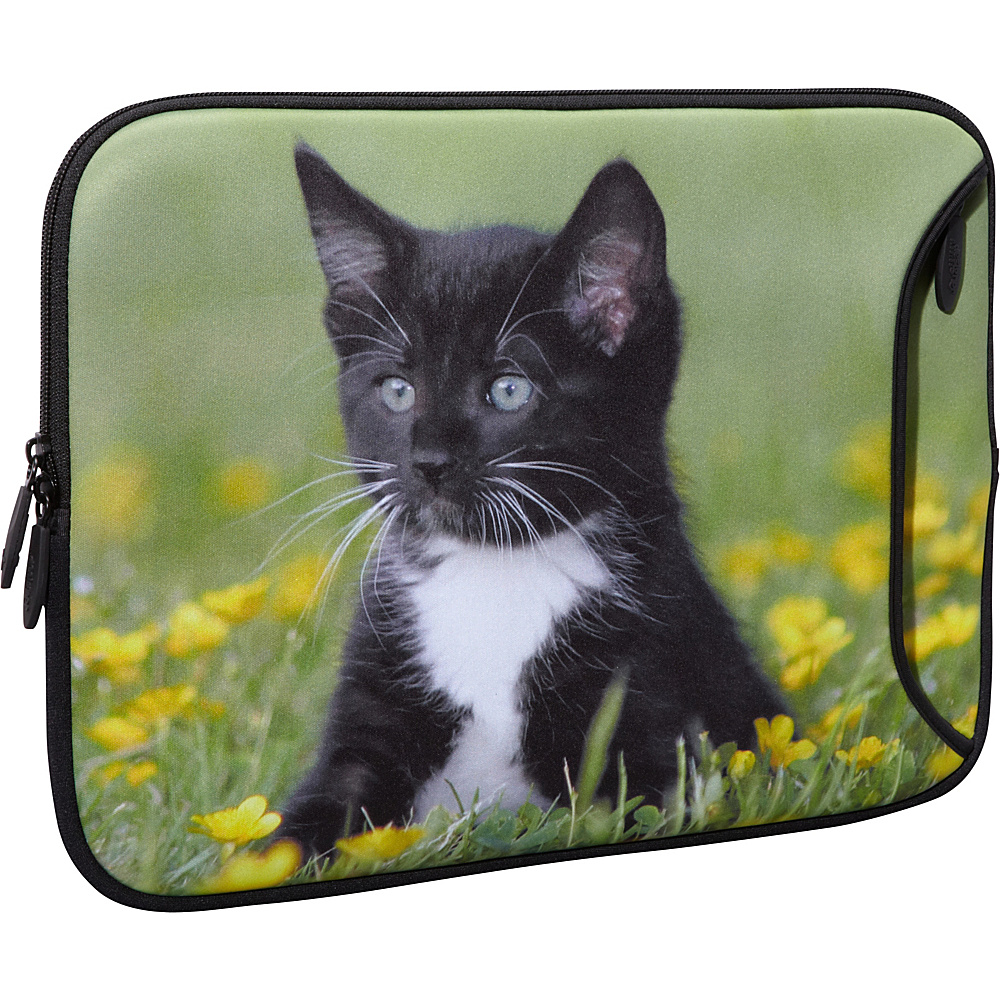 Designer Sleeves 14 Designer Laptop Sleeve Midnight Kitten Designer Sleeves Electronic Cases