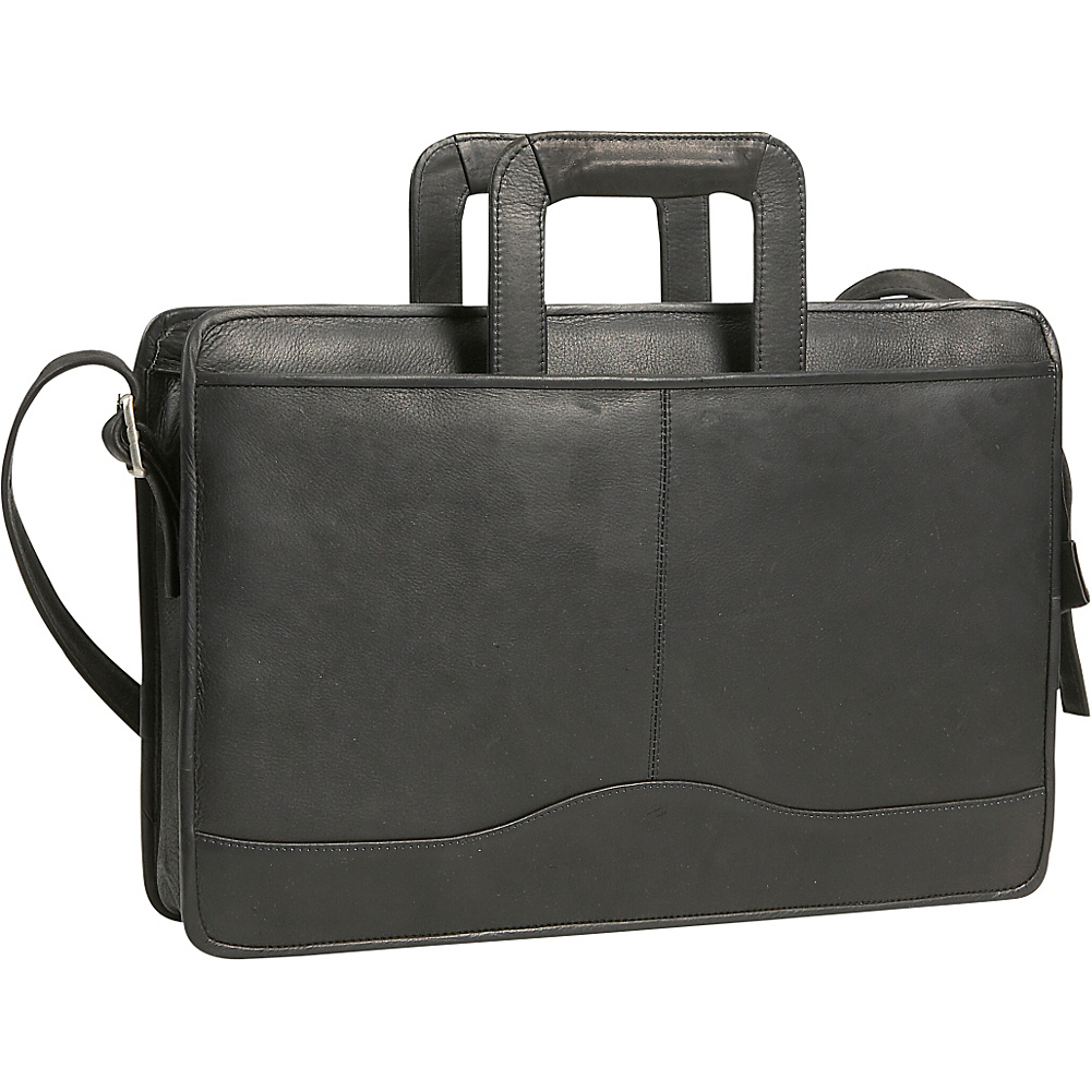 David King & Co. Drop Handle Briefcase - Black - Work Bags & Briefcases, Non-Wheeled Business Cases