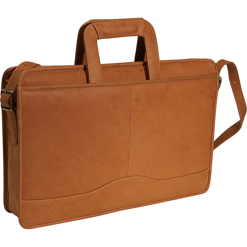 David King & Co. Drop Handle Briefcase - Tan - Work Bags & Briefcases, Non-Wheeled Business Cases