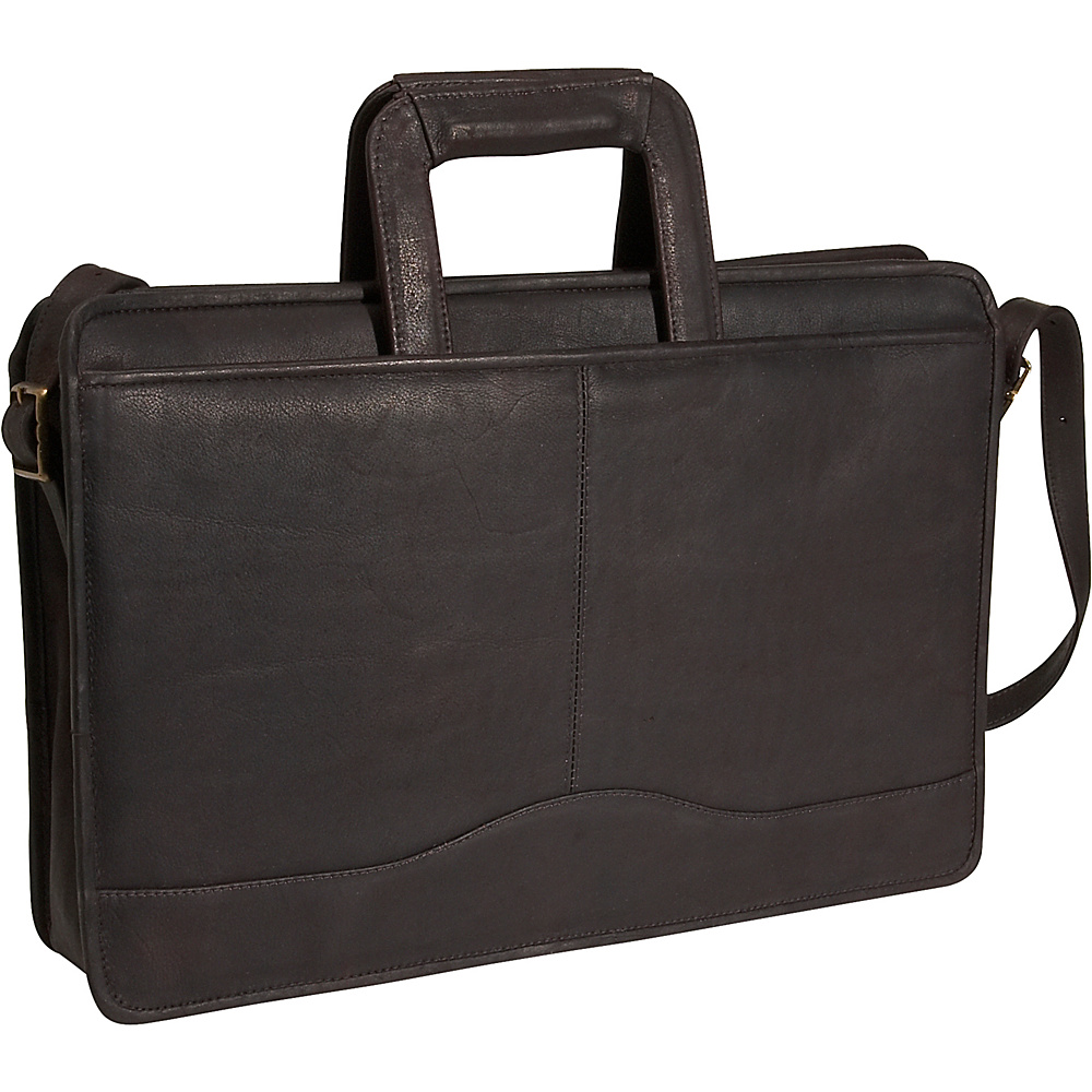 David King & Co. Drop Handle Briefcase - Cafe - Work Bags & Briefcases, Non-Wheeled Business Cases