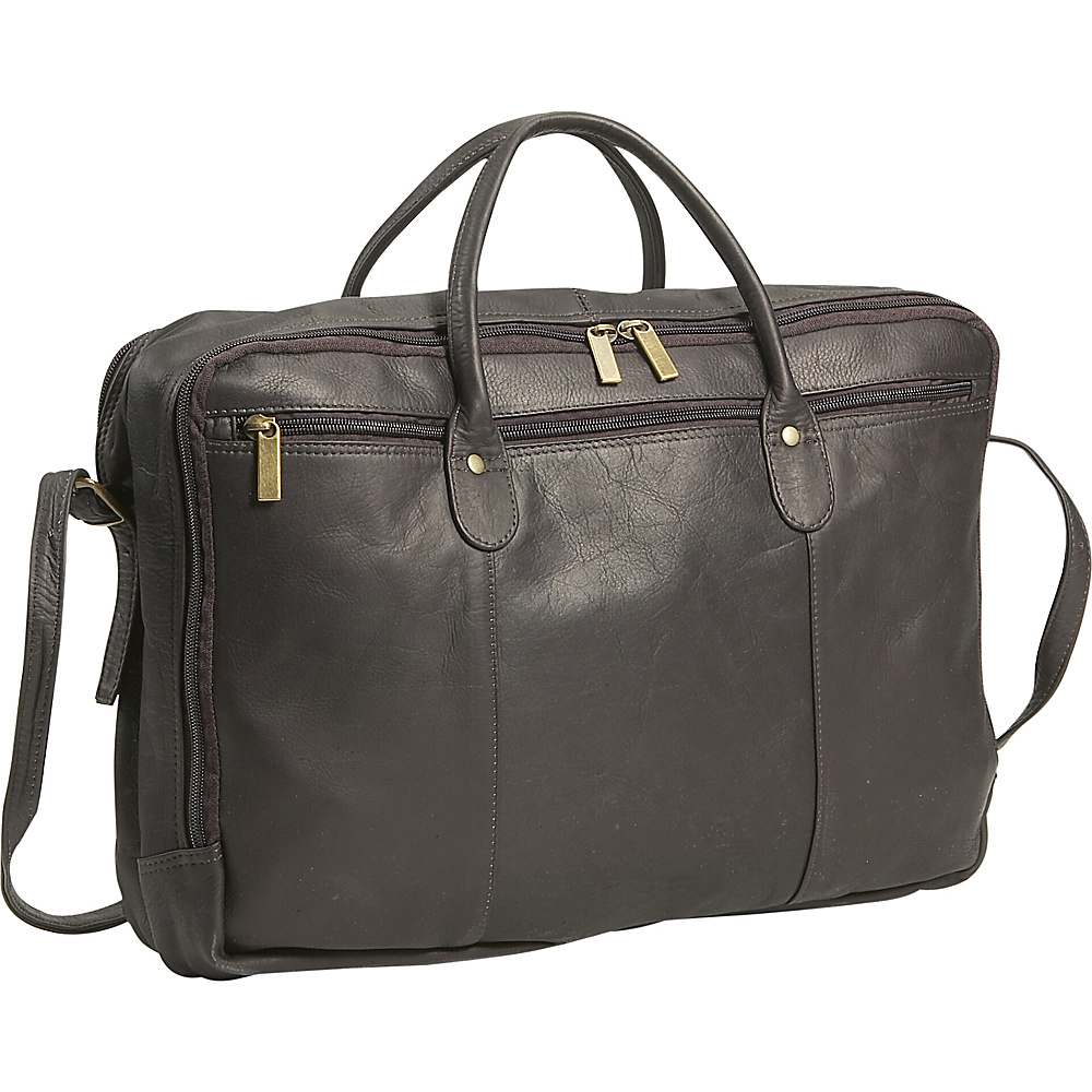 David King & Co. Double Top Zip  Portfolio - Cafe - Work Bags & Briefcases, Non-Wheeled Business Cases