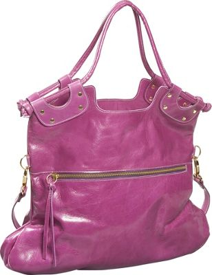 Pietro Alessandro Convertible Shoulder Bag - Purple