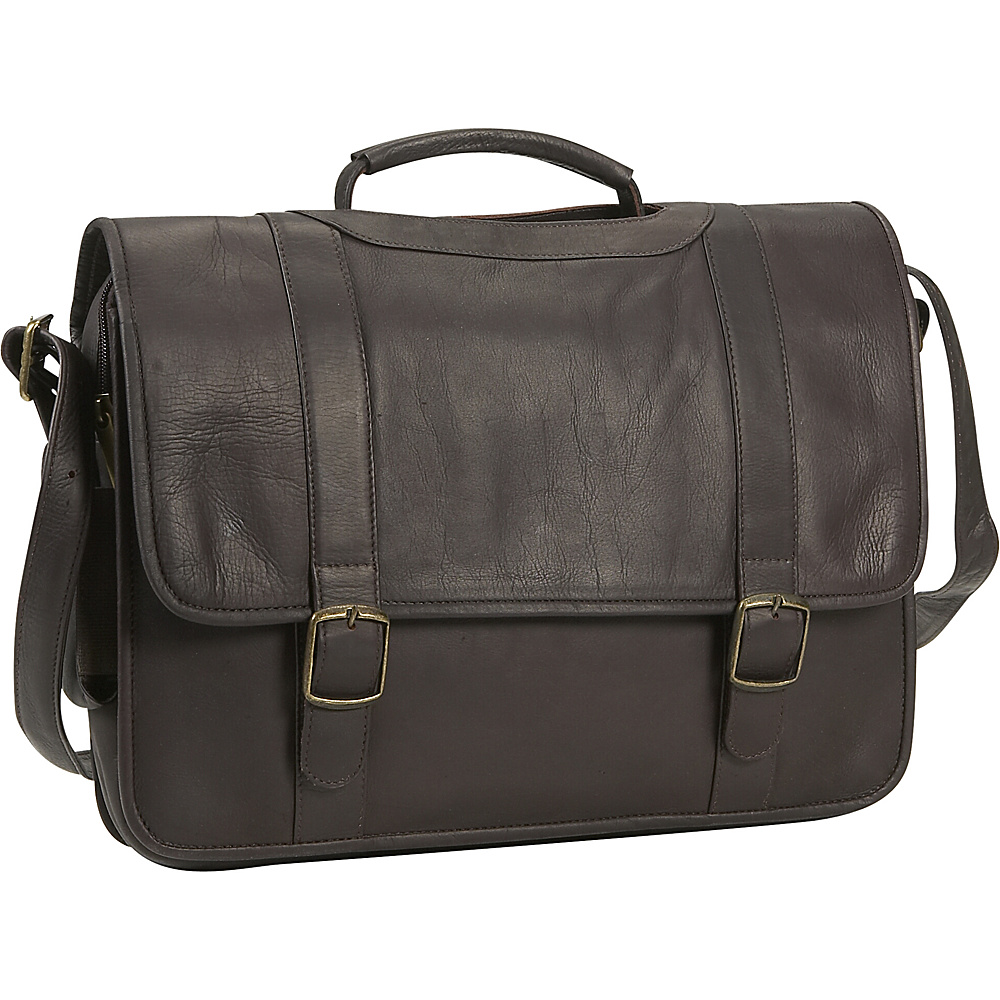 David King & Co. Porthole Briefcase w/Inside Organizer - Work Bags & Briefcases, Non-Wheeled Business Cases