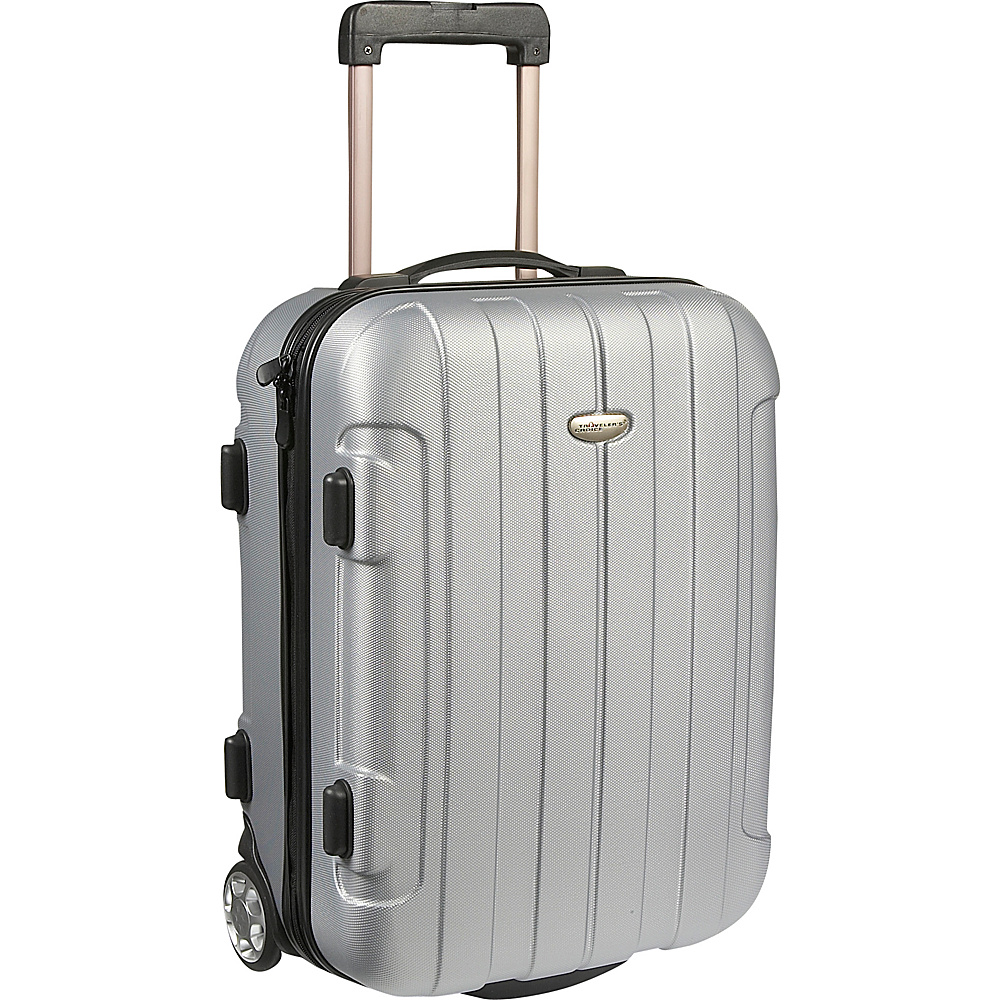 Traveler's Choice Rome 20 in. Hardside Rolling Carry-On Silver Grey - Traveler's Choice Hardside Carry-On
