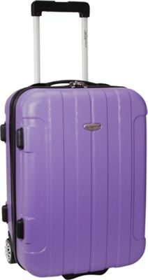 Traveler's Choice Rome 20 in. Hardside Rolling Carry-On Purple - Traveler's Choice Hardside Carry-On