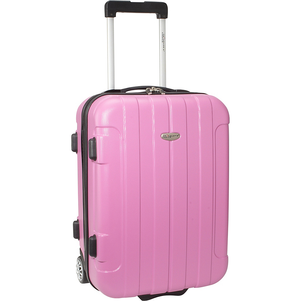 Traveler's Choice Rome 20 in. Hardside Rolling Carry-On Pink - Traveler's Choice Hardside Luggage
