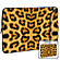 17'' Designer Laptop Sleeve Leopard