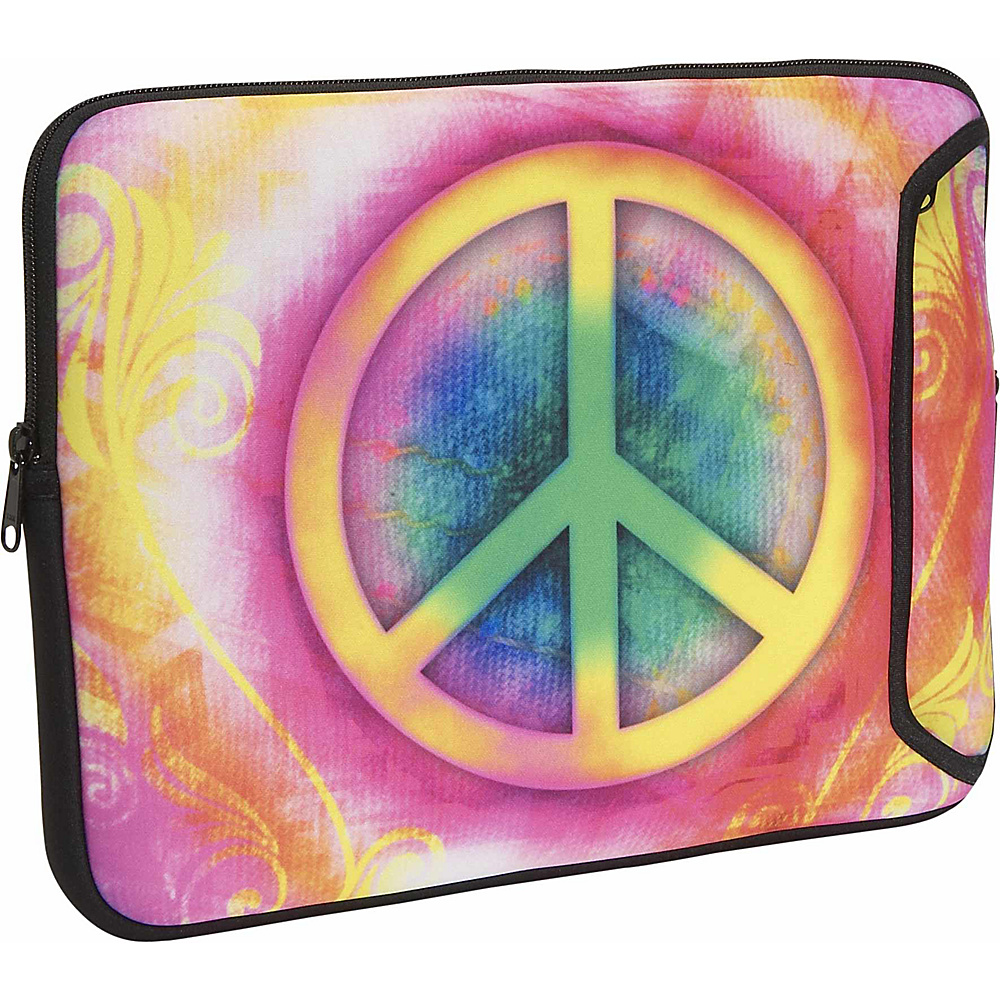 Designer Sleeves 17 Designer Laptop Sleeve - Peace - Technology, Electronic Cases