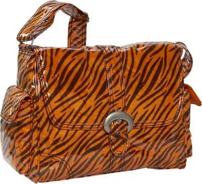 Kalencom Tiger Fur Laminated Buckle Bag