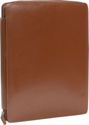 Leatherbay Casual Leather Padfolio - Antique Tan