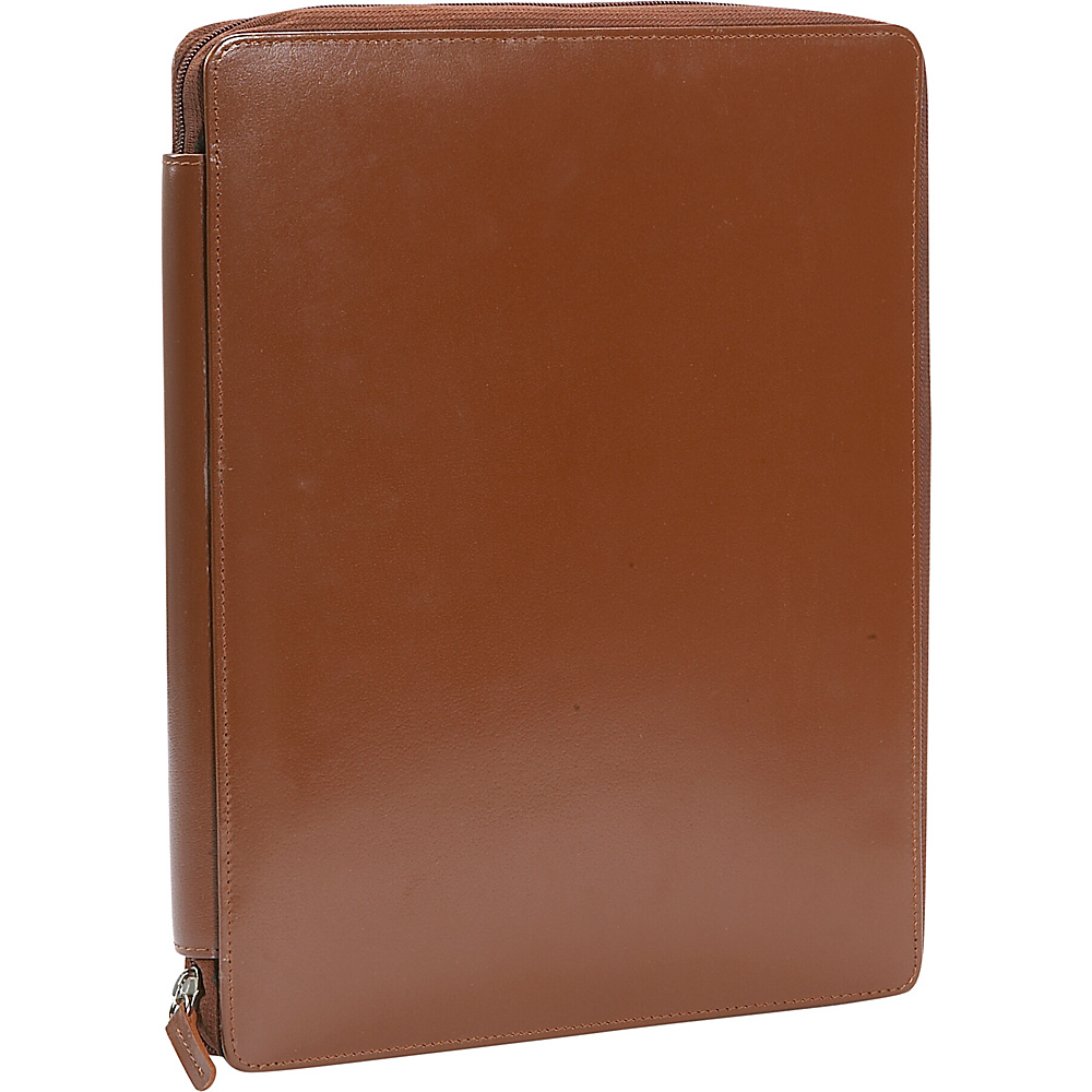 Leatherbay Casual Leather Padfolio - Antique Tan - Work Bags & Briefcases, Business Accessories