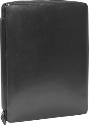 Leatherbay Casual Leather Padfolio - Black