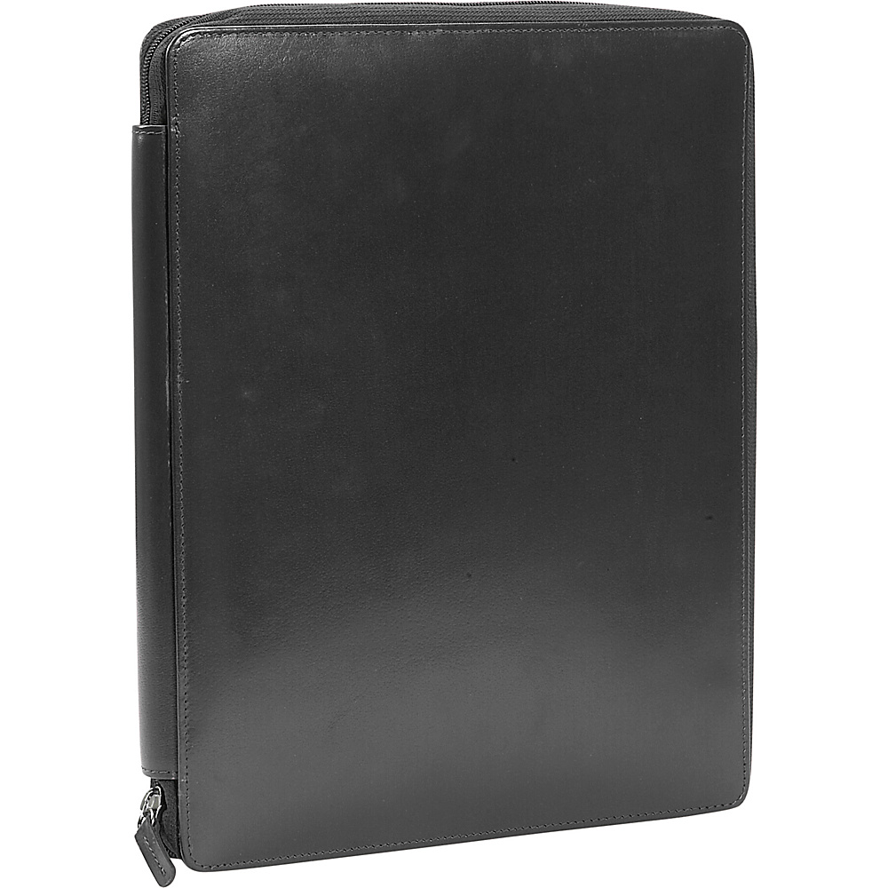 Leatherbay Casual Leather Padfolio - Black - Work Bags & Briefcases, Business Accessories