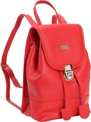 Red Leather Backpack Purse - Crazy Backpacks