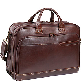 Deluxe Expandable Briefcase Chestnut