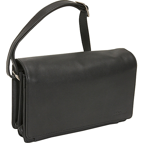 Derek Alexander Full Flap Organizer Handbag - Black