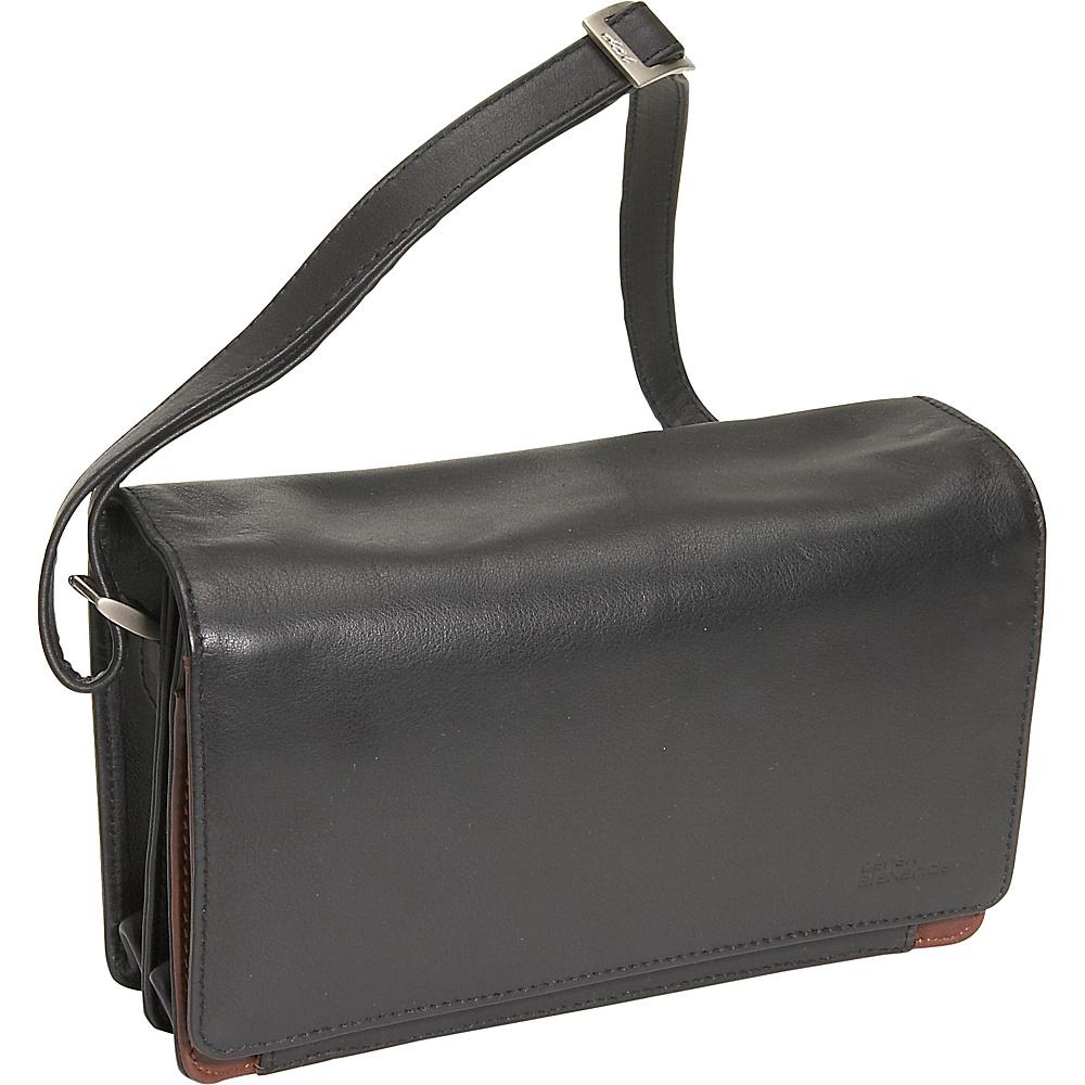 Derek Alexander Full Flap Organizer Handbag - Handbags, Leather Handbags