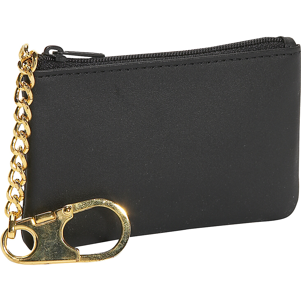 Royce Leather Coin & Key Holder - Black - Work Bags & Briefcases, Men's Wallets