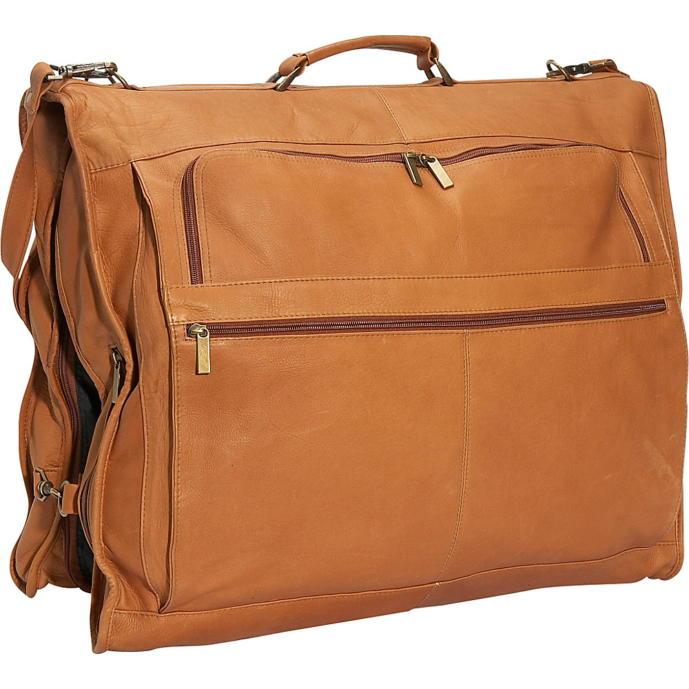 David King & Co. 42 Deluxe Garment Bag Tan - David King & Co. Garment Bags - Luggage, Garment Bags
