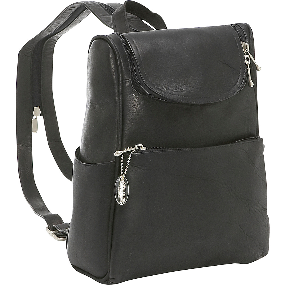 David King & Co. Women's Small Backpack Black - David King & Co. Leather Handbags
