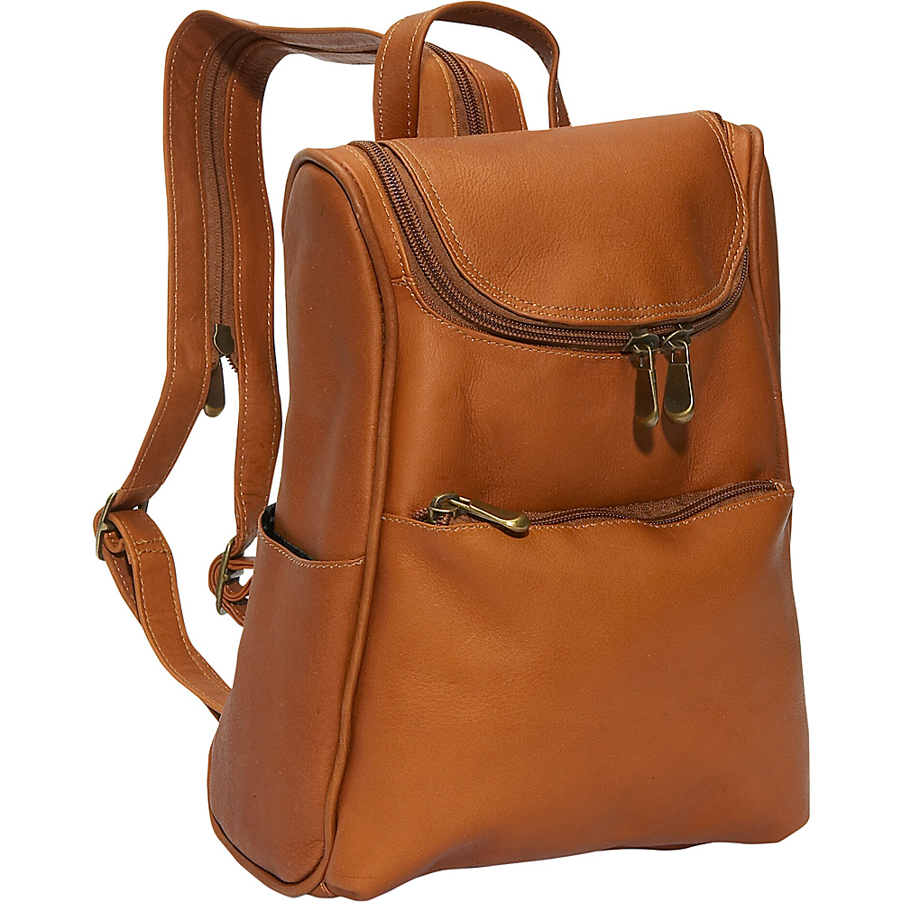 David King & Co. Women's Small Backpack Tan - David King & Co. Leather Handbags