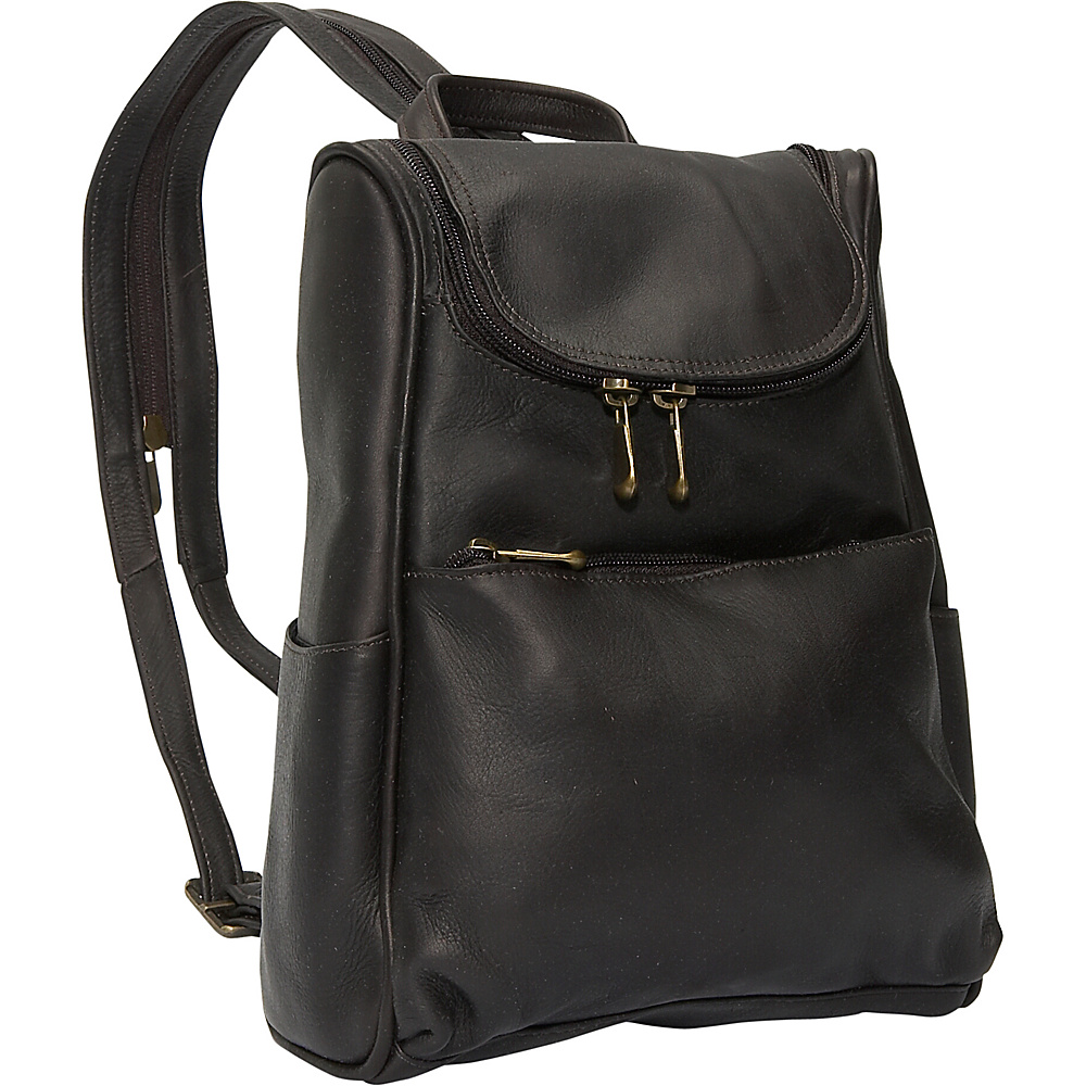 David King & Co. Womens Small Backpack - Cafe - Handbags, Leather Handbags